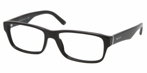 Prada Men's PR 16MV Eyeglasses Gloss Black 55mm by Prada