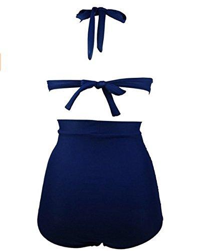 Para mujer Diseño de flores y Hot diseño de lunares de natación para el botón de antigua de Bikini de succión con sus bañadores para que los bañadores de #16