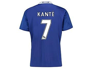 hot sale online a196e 0d06d Men's 2016-2017 N'Golo Kante #7 Home Shirt Football Jersey ...