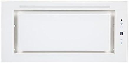 Campana extractora Ventilador Diseño Piedra techo empotrado 60 cm/Campana en color blanco/eficiencia energética: A/techo Campana/Campana empotrable con 4 stufigen Touchcontrol/6 W iluminación LED/superspie tarker 850 m³/h Motor/Silencioso Max 59 Db ...