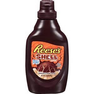 REESES ICE CREAM TOPPING CHOCOLATE PEANUT BUTTER SHELL 7.5 OZ