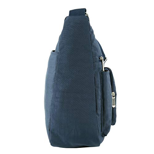 Nylon for Pocket Multi Women Bag Bags Blue Shoulder Purse Crossbody Waterproof Lightweight RgxqUY