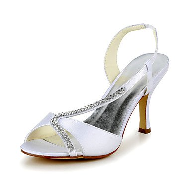 Spring Heels Stretch EU39 US8 Stiletto CN39 Women'S Satin Heel UK6 Satin Summer Wedding OpWfg
