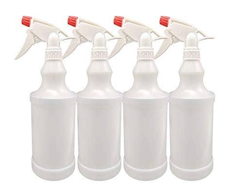 - Plastic Spray Bottles Leak Proof Adjustable Nozzle Empty 32 oz - 1 Liter Value Pack of 4 with Commercial Grade Trigger Multi-Purpose Use for Cleaning Solutions, Planting, Cooking