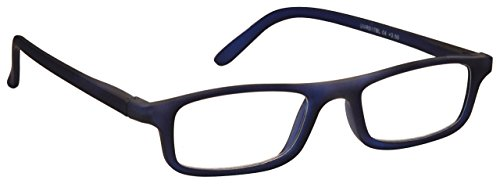 The Reading Glasses Company Rubberized Matt Navy Blue Lightweight Readers Designer Style Mens Womens R17-3 - Spectacles Mens Designer