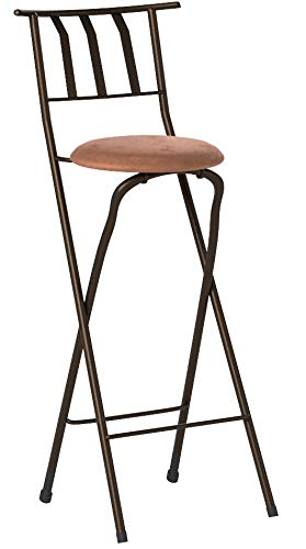 Home Furniture Sitting Bar Stool Bronze 30 Empress Metal Ladder Back Black Chair Microfiber cushion Folding feature Padded seat cushion Assembled Dimensions (L x W x H):42.50 x 4.00 x 20.00 Inches