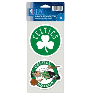Nba Basketball Car Decal (NBA Boston Celtics Perfect Cut Decal (Set of 2), 4