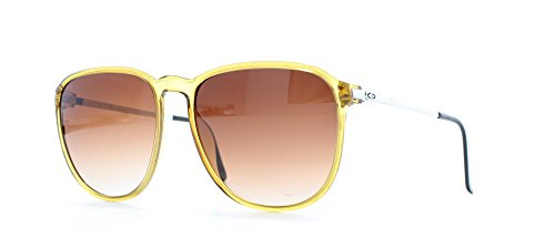 Christian Dior 2212 11 Yellow Certified Vintage Rectangular Sunglasses For Mens and ()