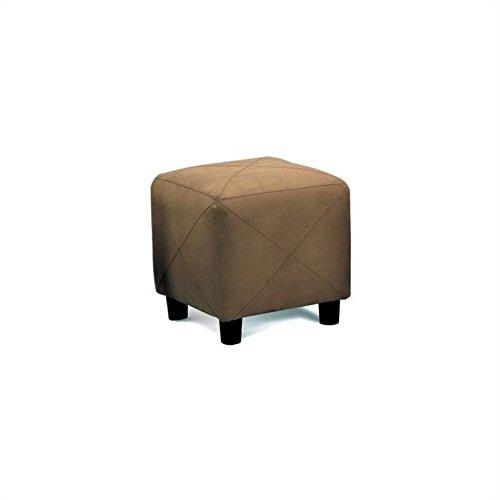 Microfiber Cube Footstool - 1