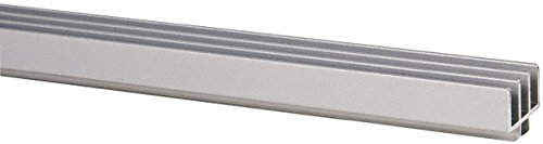 1 Panel, 0 to 48'' Wide Door, Clear Anodized Aluminum Door Slide Track