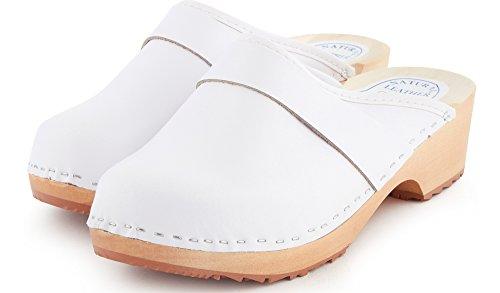 LABR306 1 Flipflops Weiß Holzschuhe Damen Ladeheid Clogs ZRWIY6UWq