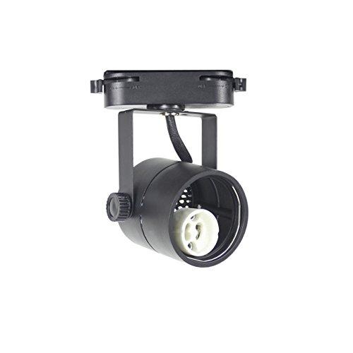 J.LUMI TRK9610 GU10 Line Voltage Track Light Head, 120V AC, Track Light Fixtures, Black Finish, Compatible track rail RAL1002, BULB NOT (Light Rail Track)