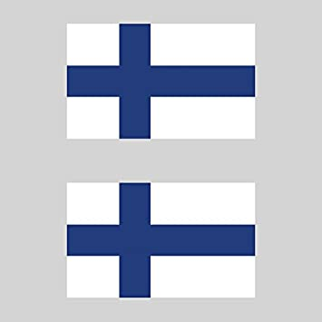 Two pack finnish flag sticker fa graphix decal self adhesive vinyl finland fin fi
