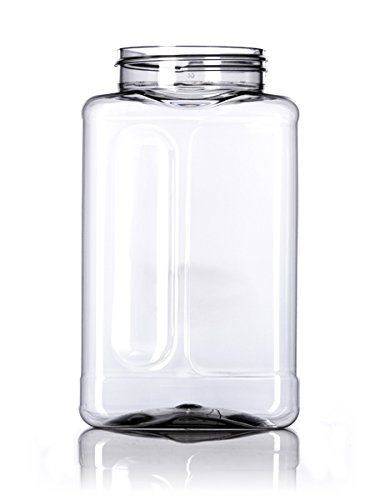 Clear Plastic Spice Jars w/Sifter Caps (Food Grade - BPA Free) (Assorted 4-Spice Jar & Cap Set) BUY 1 GET 1 FREE Pride Of India JAR-01