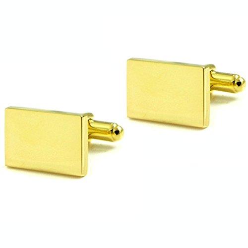 (18KT Gold Vermeil over Sterling Silver Rectangular Cufflinks )