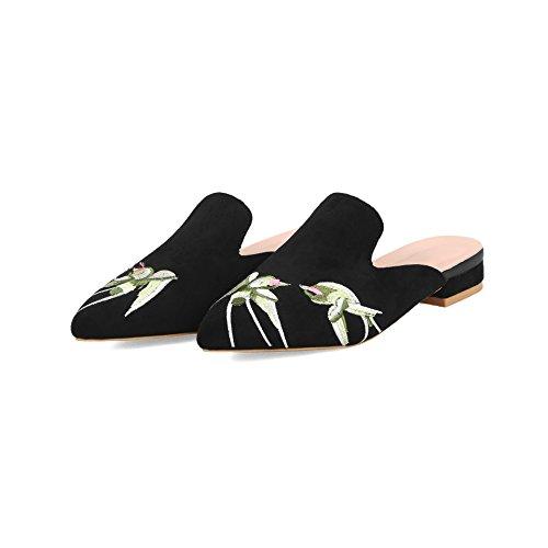 Flop Qin Women's Heel Flip amp;x Black Low Sandals 4qBwrxYSUq