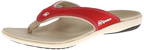 Spenco Women's Yumi Sandal, True Red, 8 M