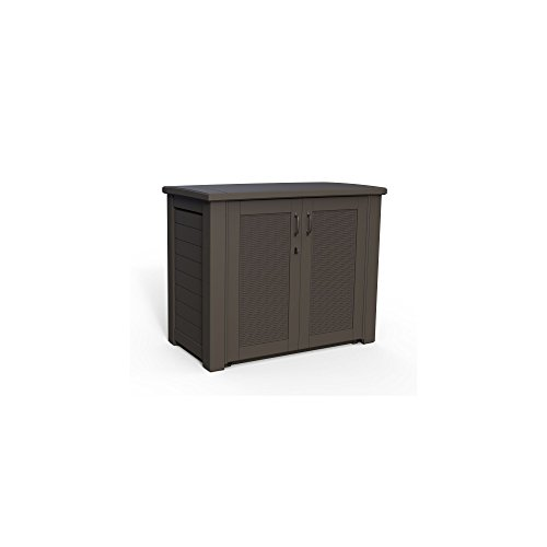 Rubbermaid Patio Chic Outdoor Storage Deck Box, Black Oak Ra