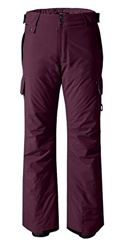Wantdo Women's Waterproof Padding Insulated Cargo Snow Pants X-Large Wine Red ()