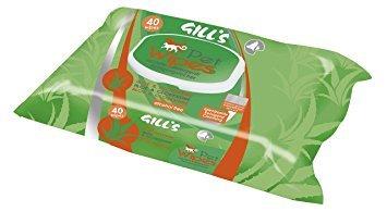 gill S Toallitas Húmedas Para Perros 40 unidades x 4 Aloe y Clorexidina