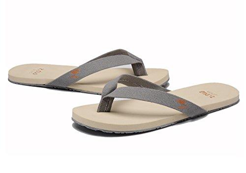 Mens Sling Sandal DQQ DQQ Canvas Grey Flip Beach Flop Mens wqEI8x