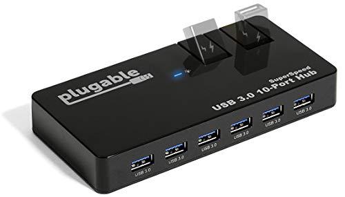 Best Elegiant Usb Hubs - Plugable USB Hub, 10 Port -