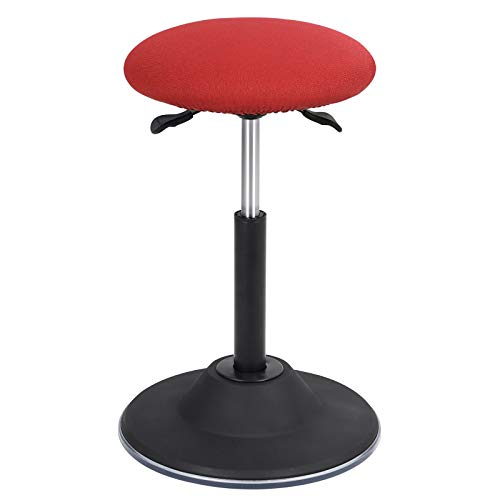 SONGMICS Standing Desk Chair, Adjustable Height Ergonomic Standing Stool, 360° Swivel Sitting Balance Chair, for Office Home, Red UOSC01RD
