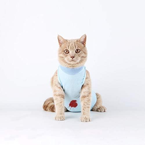 UKCOCO Gilet de Récupération de Chat Confortable, Anti-lécher Chaton Médical Jumpsuit, Sevrage et Protection Post-Chirurgicale Costume pour Chiens de Chats - Taille L