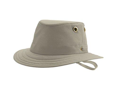 ( Tilley Endurables T5 Cotton Duck Medium Brim Khaki/Olive Unisex Hat,7 3/8)