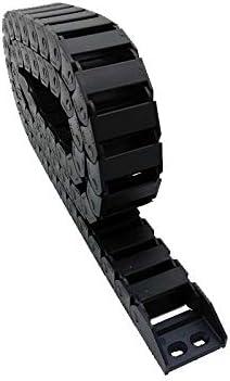 """WNJ-TOOL, 1pc 15x30 1M 100cm 40"""" Brücke Non Open Kunststoff-Schleppkette Kabelschlepp Drahtträger mit Anschluss for CNC (Farbe : R28, Größe : 15x30 mm)"""