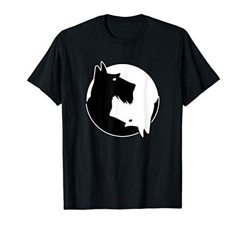 (Cool Yin Yang Dog T-Shirt - Cute Scottish Terrier Tee)