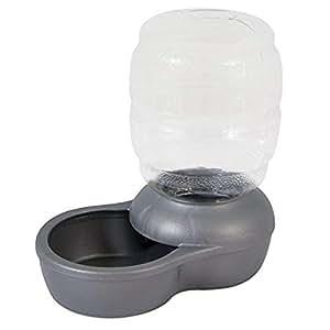 PETMATE Replendish Gravity Waterer c/Microban, Pearl Silver Grey, 0.5 GAL