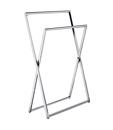 Smedbo FK309 Freestanding Towel Rail, Polished Chrome - Smedbo Glass Wall Soap Dispenser