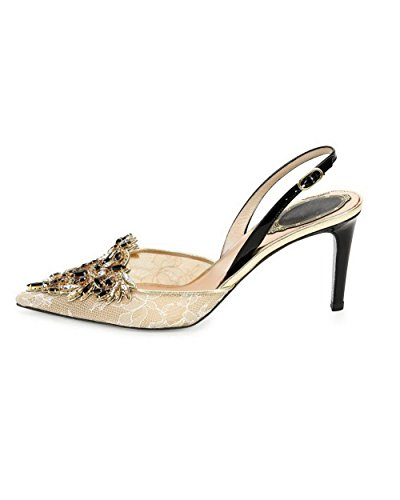 Sandals High Studded Soft AmoonyFashion Material Gold Heels Closed Buckle Womens Toe zx6q4w
