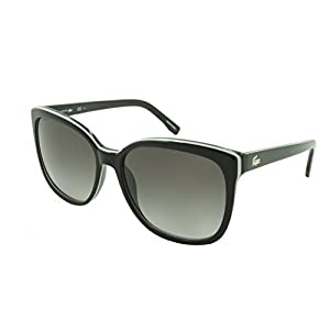 Lacoste Women's L747S Cateye Sunglasses, Black/Grey, 57 mm