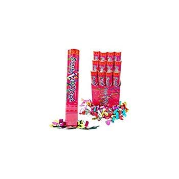 (6 Pack) Large (12 Inch) Confetti Cannons Air Compressed Party Poppers Indoor and Outdoor Safe Perfect For Any Party New Years Eve or Wedding Celebrations ...