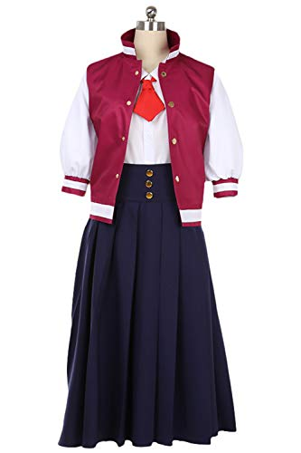 Sinastar Saga Zombie Idol Death Girls Zombie 2 Saki Nikaido Cosplay Costume Coat Skirt Red -
