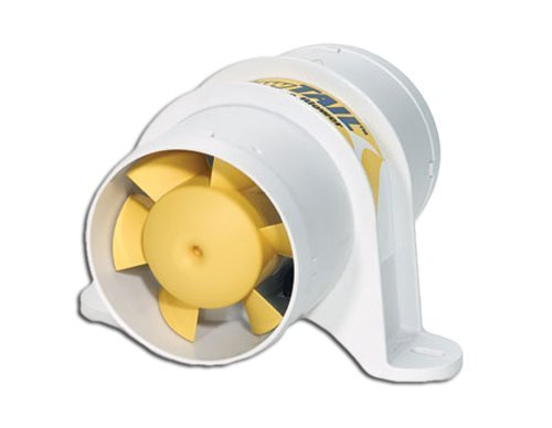SHURFLO Marine 3'''' in Line Electric Blower for Boats & Rv, 12v - 120 Cfm Yellow