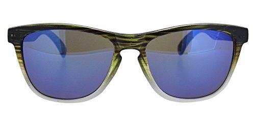 degradado y funda gafa Blue semitransparente efecto para Con cristal lente incluida chico azul con o Zebra print con espejo chica sol blanca de unisex en Gafa montura y Marlin pwT88I