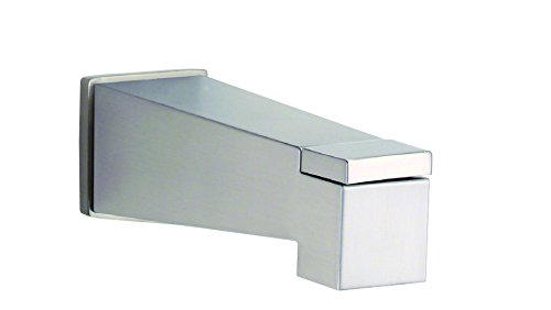 Danze Nickel Tub - Danze DA606445BN Mid-Town Wall Mount Tub Spout with Diverter, Brushed Nickel
