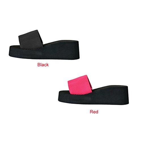 Omiky® Frauen Sommer Schuhe Sandalen Slipper indoor & outdoor Rot