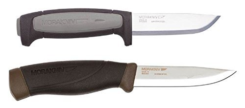 Bundle – 2 Items: Morakniv Craft Robust Carbon Steel Knife and Companion Heavy Duty Carbon Steel Knife (Forest Green)