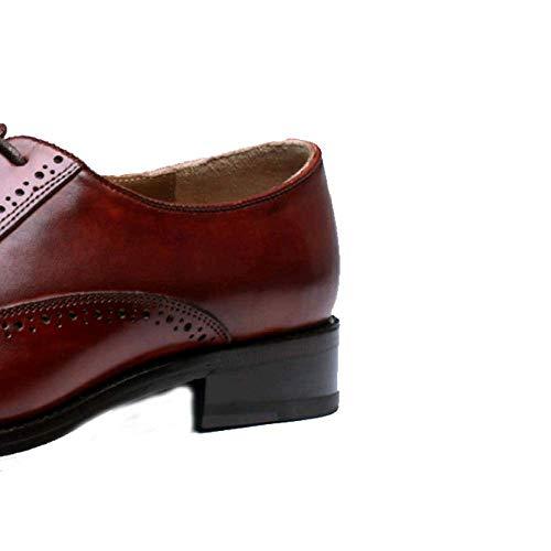 brown Uomo Pelle 36 Red Casual Indossabile Business Antiscivolo OwFgxB