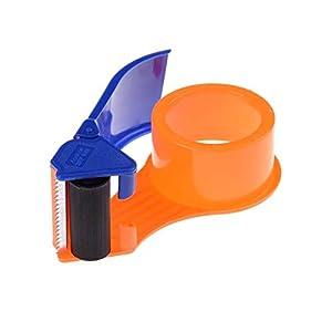 Realpack 1 dispensador de cinta de plástico ligero – fácil de usar – dispensador de rollo de cinta de embalaje de plástico