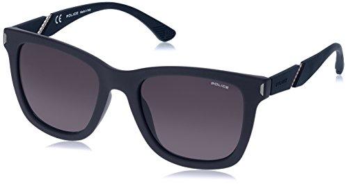 Police Men's Spl357 Polarized Square Sunglasses, Havana, 55 ()
