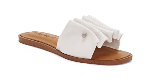1.STATE White FANN Flat Sandal