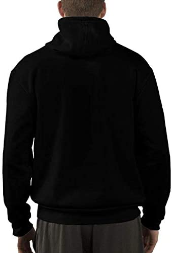 1Zlr2a0IG DIYHOME Autumn&Winter Men Hoodie Thanksgiving Day Printed Black Hoodie Sweater