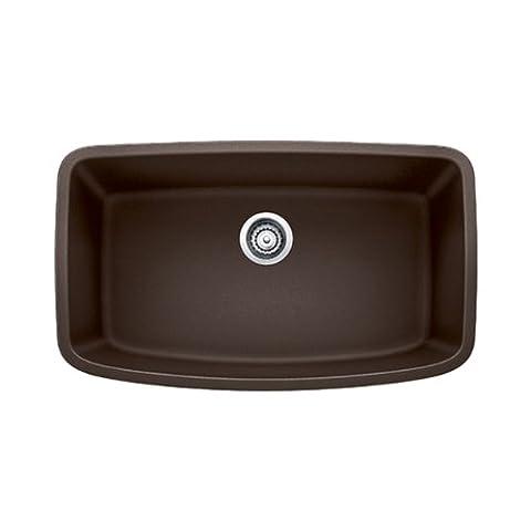 Blanco 441613 Valea Super Undermount Single Bowl Kitchen Sink, Large, Cafe Brown (Brown Granite Kitchen Sinks)