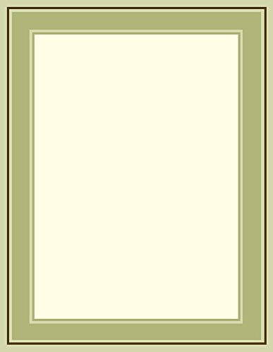(Great Papers! Multi Green Border Letterhead, 80 Count, 8.5