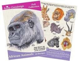 Anita Goodesign Embroidery Designs African Animals